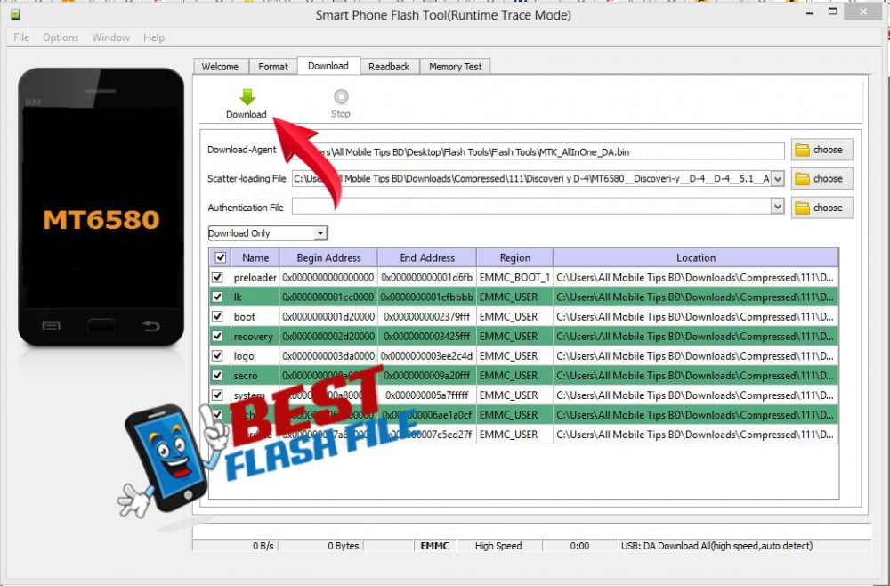 How to Flash android Smart Phone using (MTK) SP Flash Tool 9