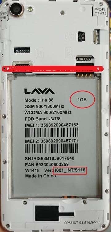 Lava Iris 88 Flash File 100% Tested Firmware 22