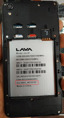 Lava iris 41 Flash File 3