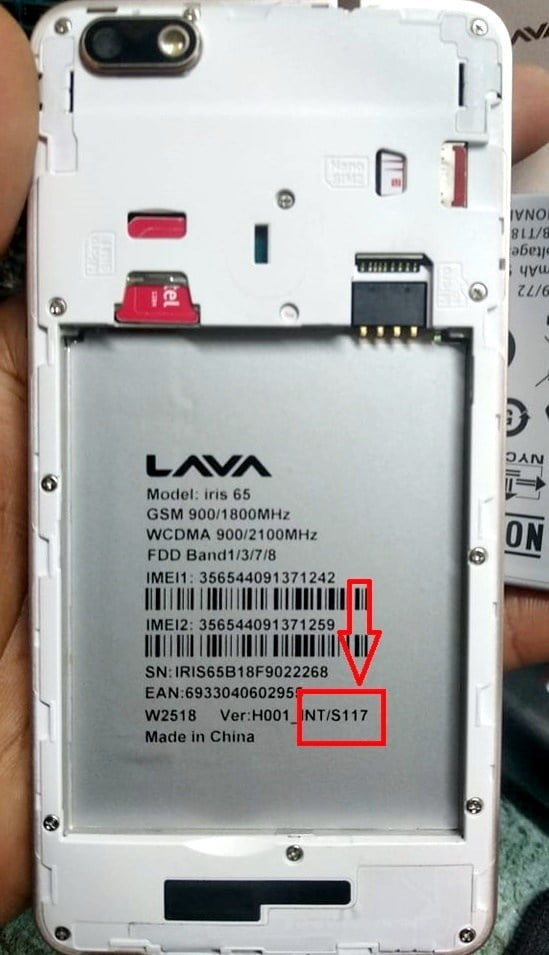 Lava iris 65 Flash File 5
