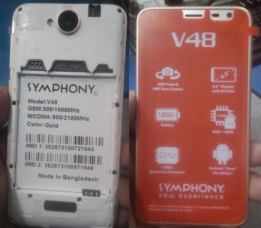 Symphony V48 Flash File 3