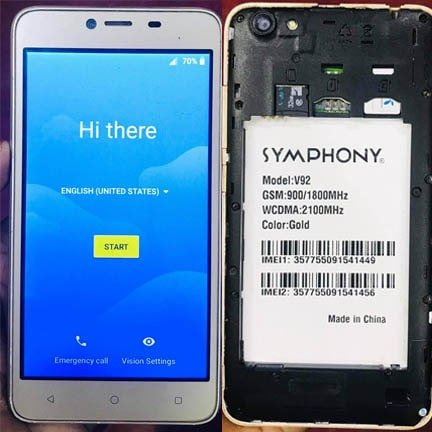 Symphony V92 flash file firmware,