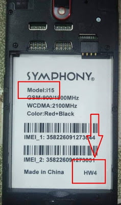 Symphony i15 Flash File 7