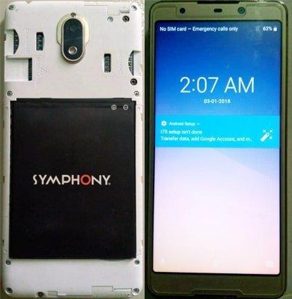Symphony i75 flash file firmware,