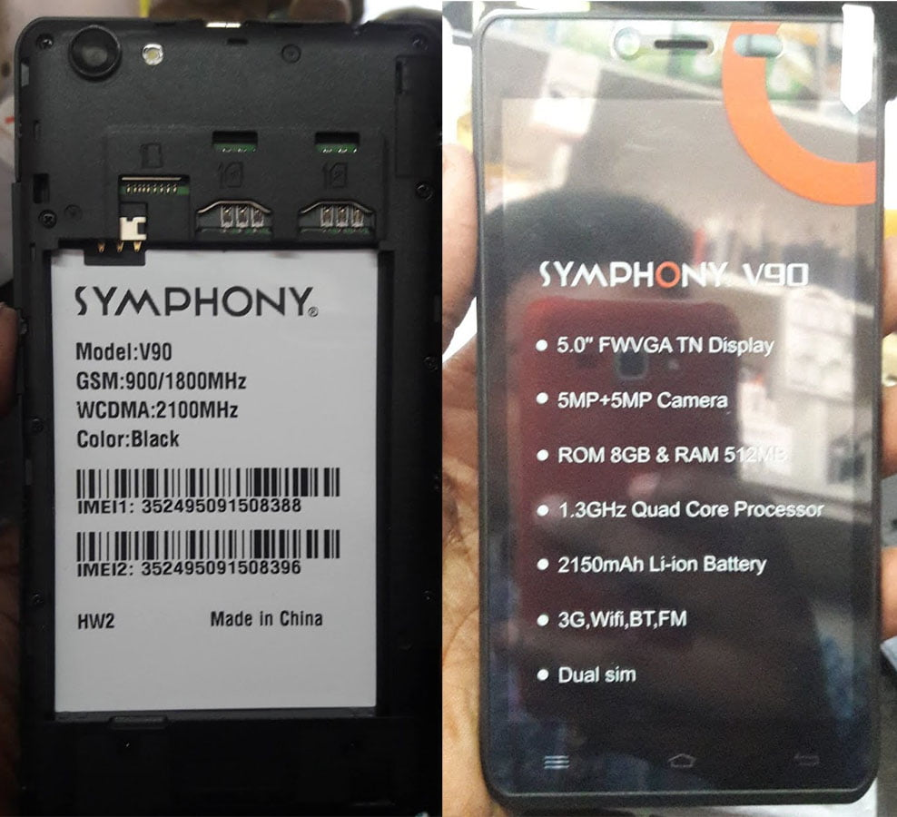 Symphony V90 Flash File 5