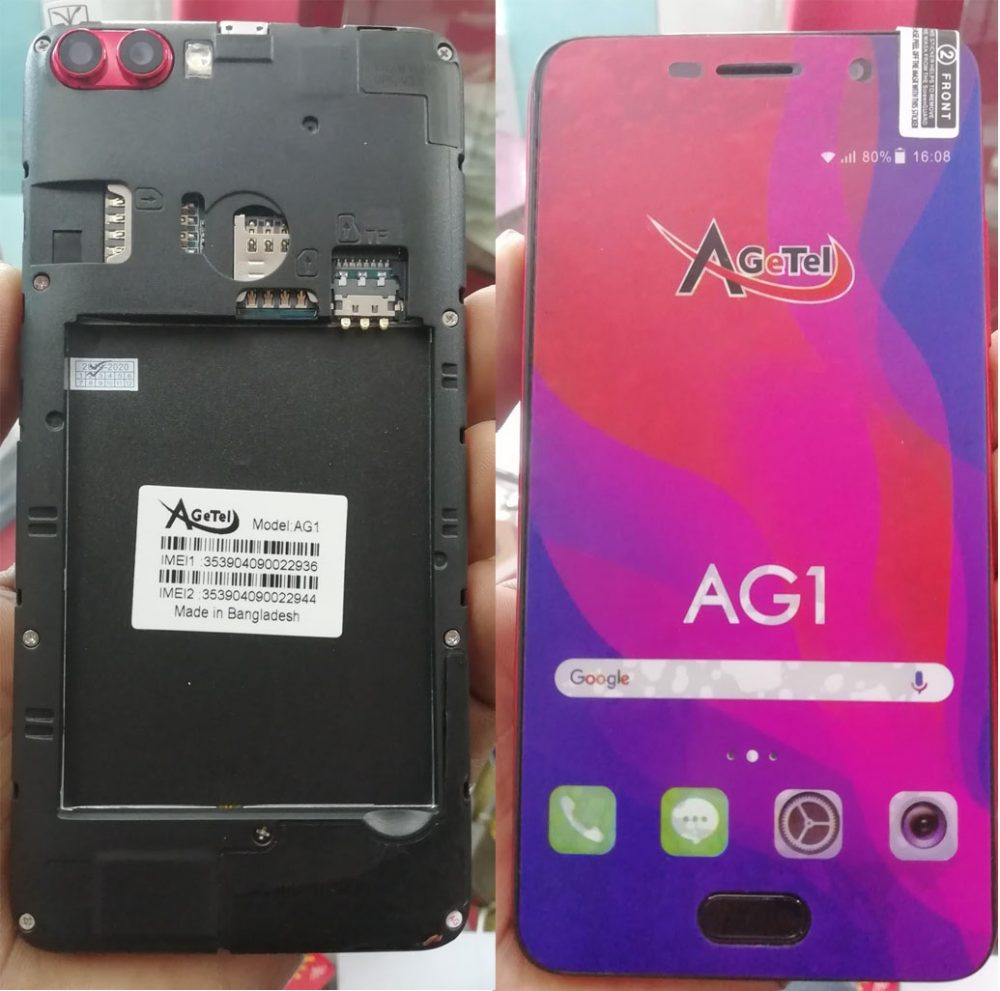 AgeTel AG1 Flash File 6