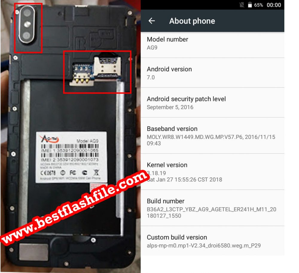 Agetel AG9 Flash File MT6580 7 0 Firmware File - BestFlashFile com