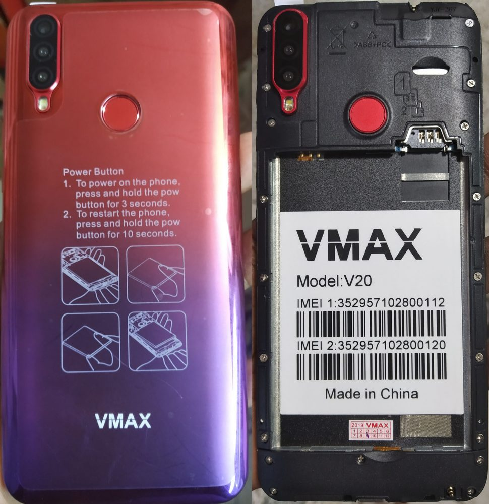 Vmax V20 Flash File without password