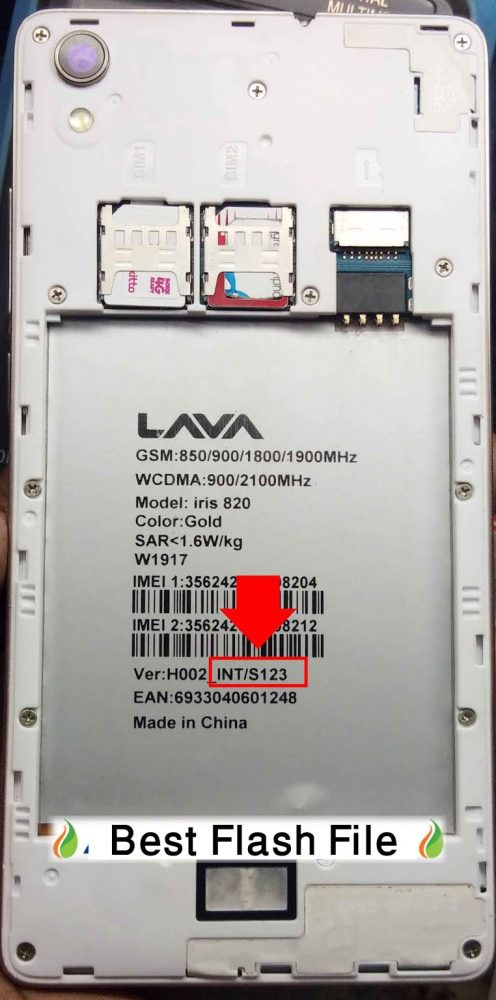 Lava iris 820 Flash File 100% Tested Firmware 3