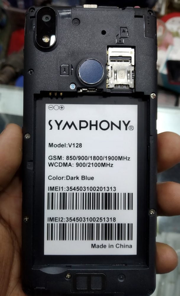 Symphony V128 Flash File 5