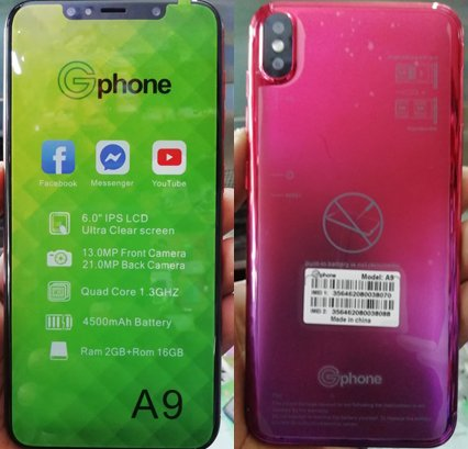 Gphone A9 Flash File 2nd without password