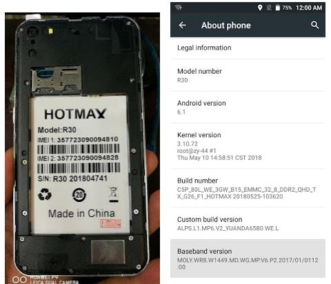Hotmax R30 flash file without password
