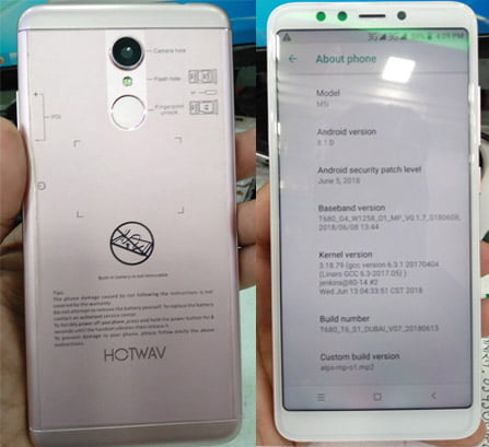 Hotwav M5i flash file without password