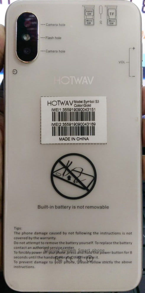 Hotwav Symbol S3 Flash File without password