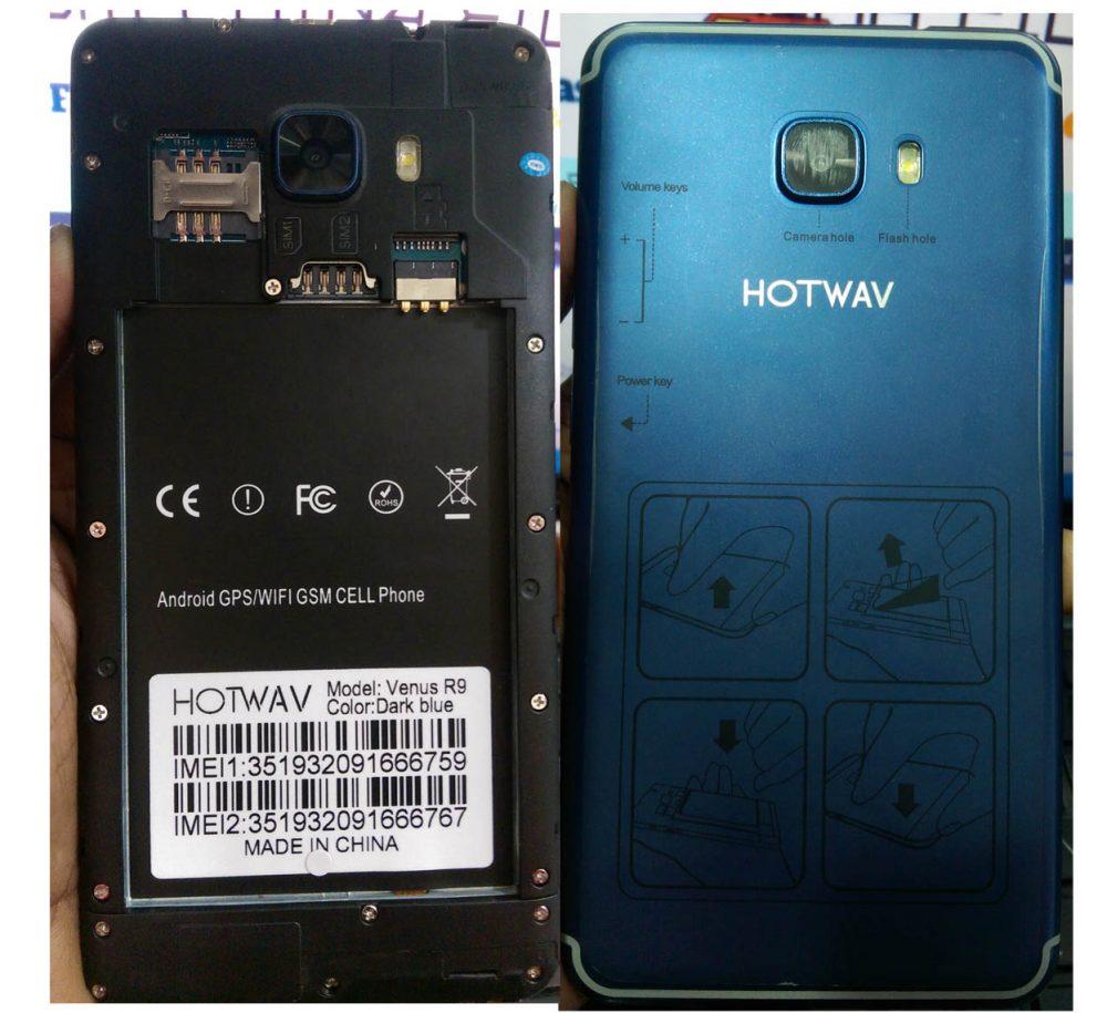 Hotwav Venus R9 flash file B08 Without passwword