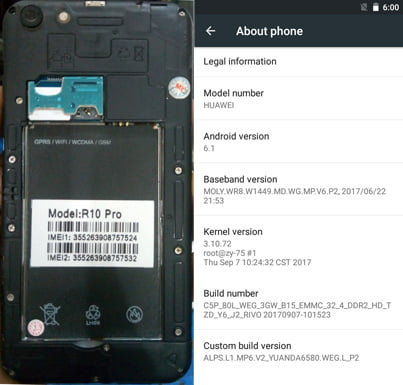 Huawei Clone R10 Pro flash file without password