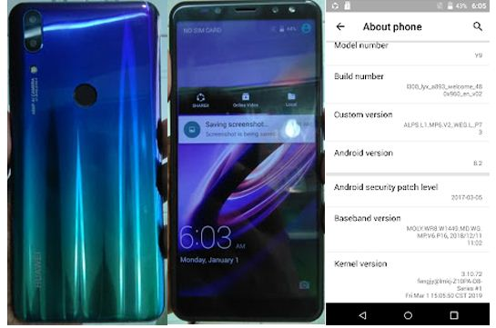 Huawei Clone Y9 flash file without password