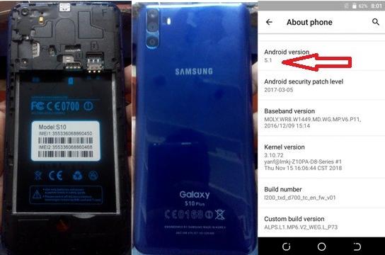 Samsung Clone S10+ Plus Flash File 9