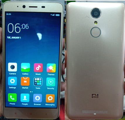Mi Clone Note 3 Flash File without password