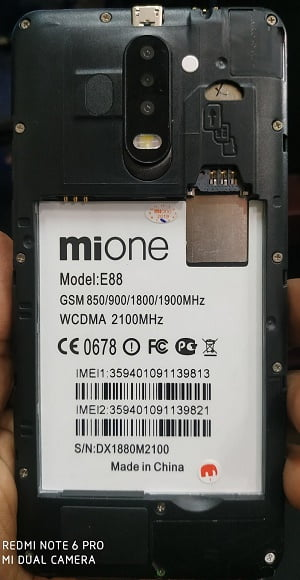 Mione E88 flash file without password