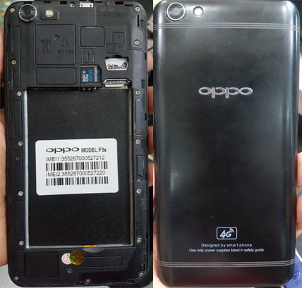 Oppo Clone F3s Flash File without password