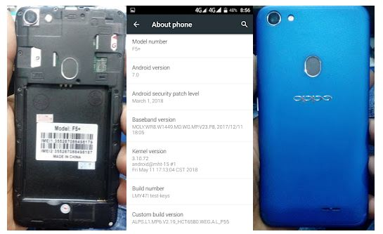 Oppo Clone F5+ flash file without password