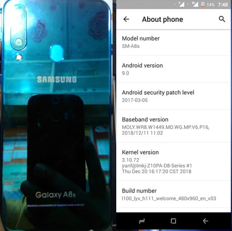 Samsung Clone A8s Flash File without password