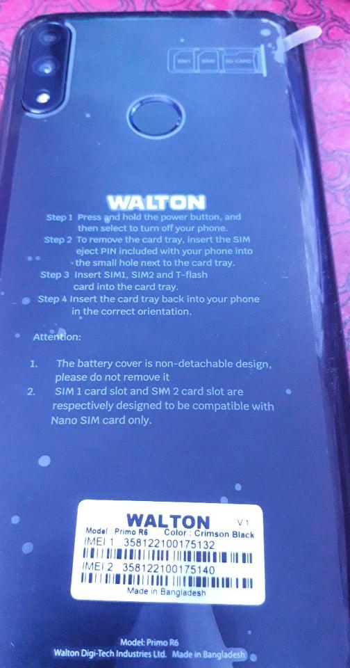 Walton Primo R6 Flash File without password