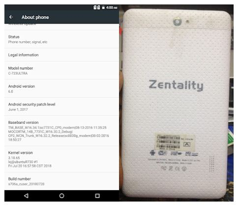Zentality C-723 Ultra Flash File wothout password