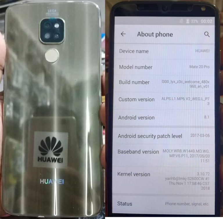 Huawei-Clone-Mate-20-Pro-Flash-File-without password