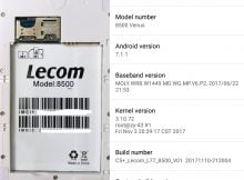 Lecom 8500 Venus without password