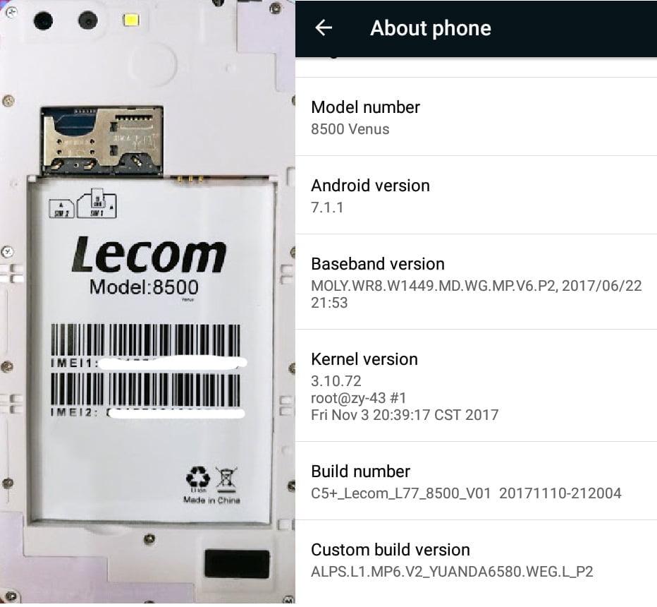 Lecom 8500 Venus without password