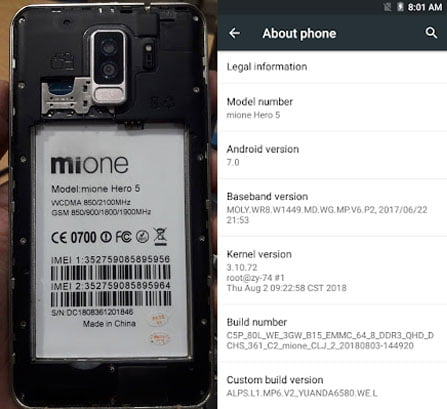 Mione Hero 5 Flash File without password