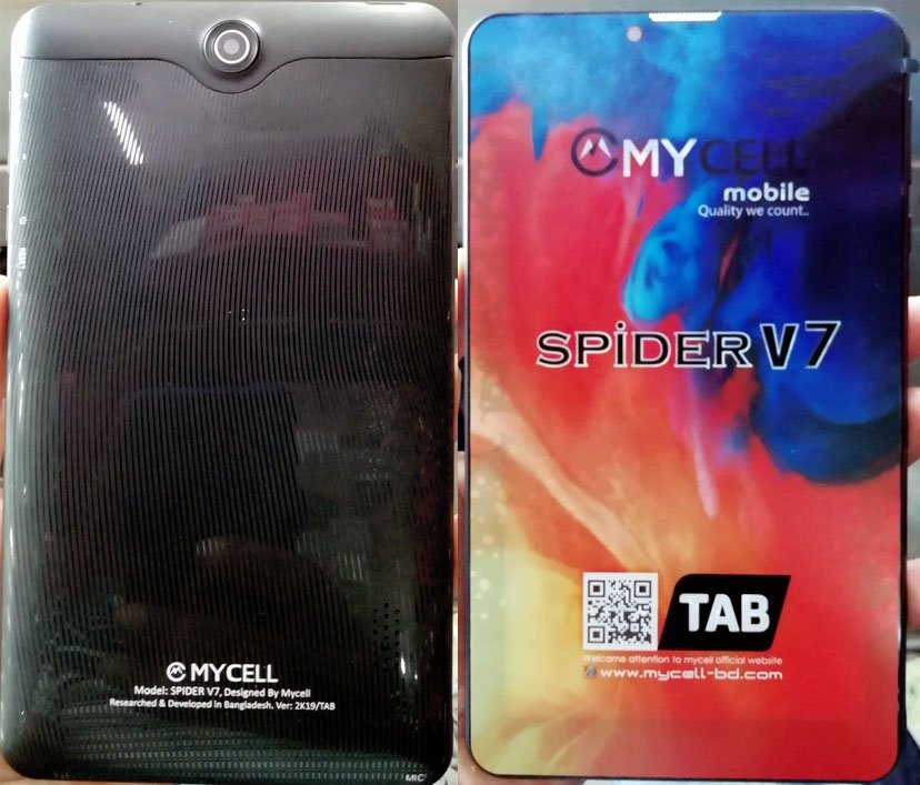 Mycell Spider V7 TAB Flash File Without password