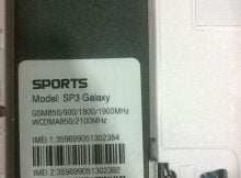 Sports SP3 Galaxy Flash File without password