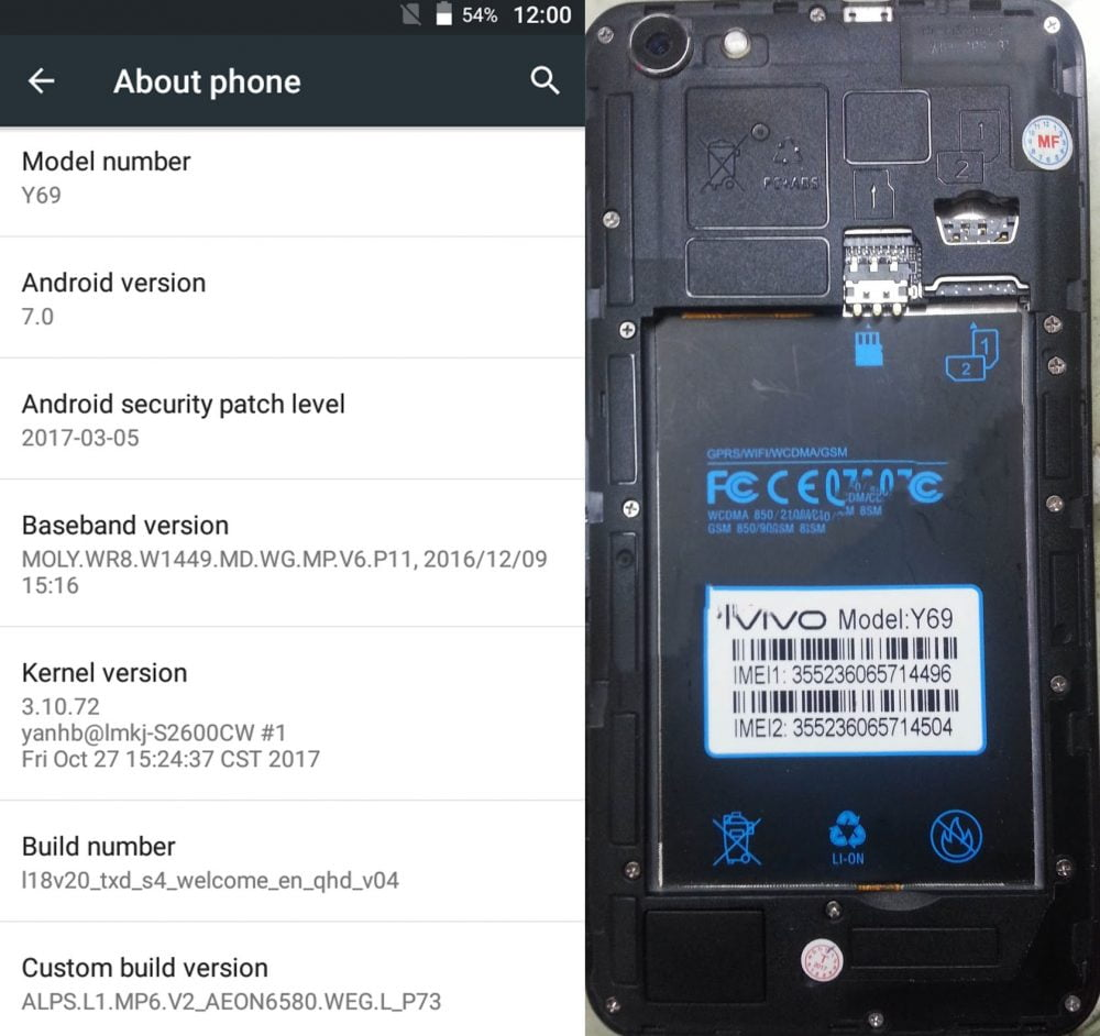 Vivo Clone Y69 flash file without password