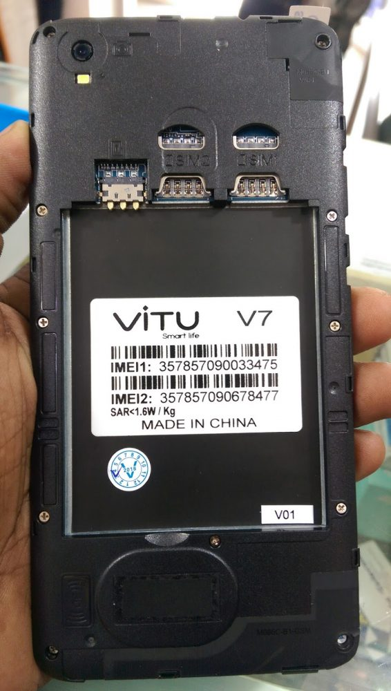 vitu V7 Flash File without password