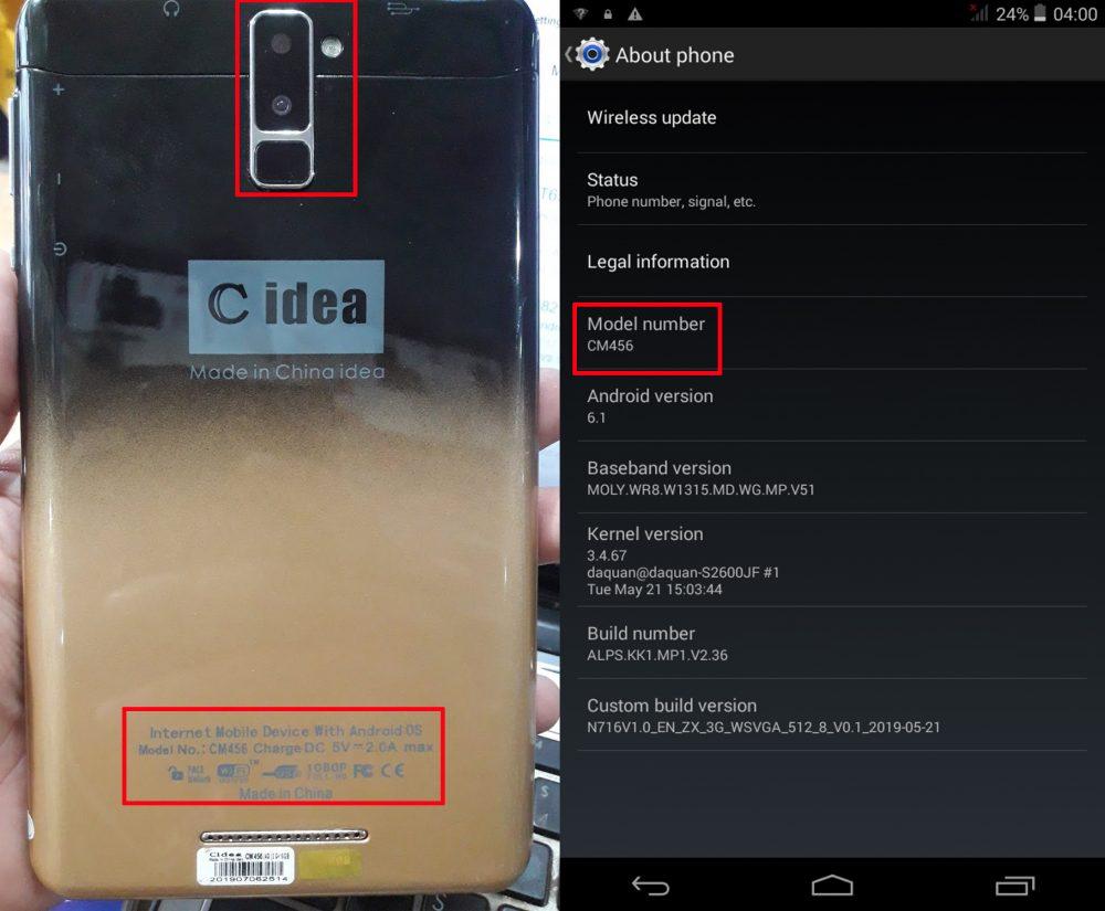 C idea CM456 Flash File Firmware Download