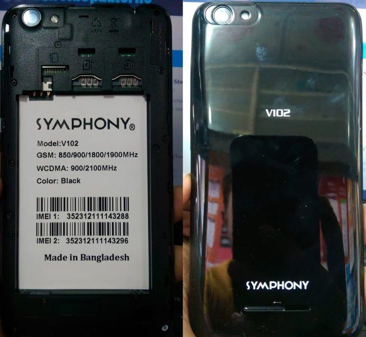 Symohony V102 Frp reset File 40MB Frp lock File 3