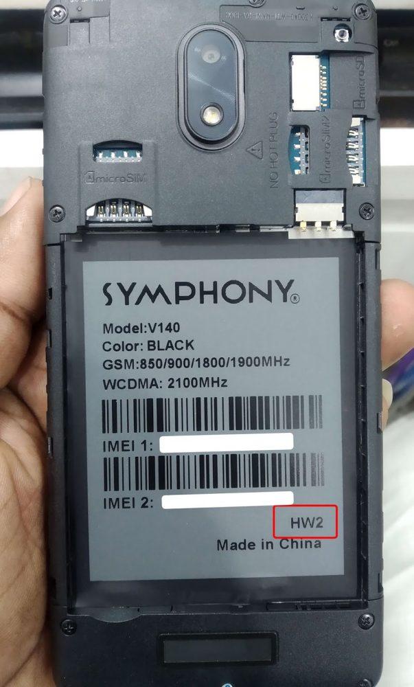 Symphony V140 Frp reset File 40MB Frp lock File 3