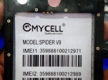 Mycell Spider V9 Flash File 11