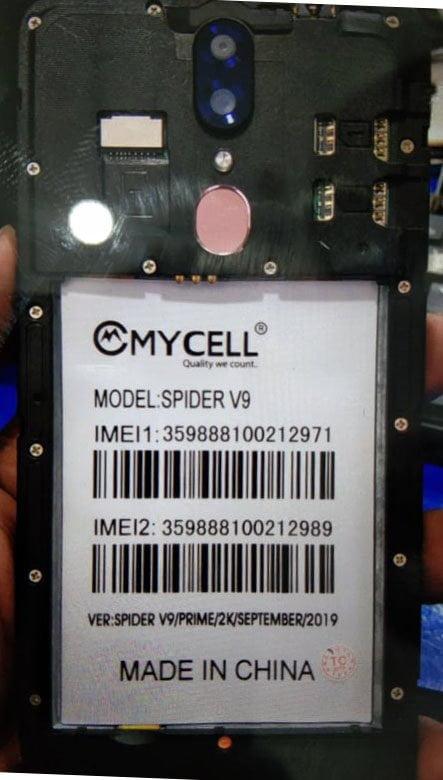 Mycell Spider V9 Flash File 6
