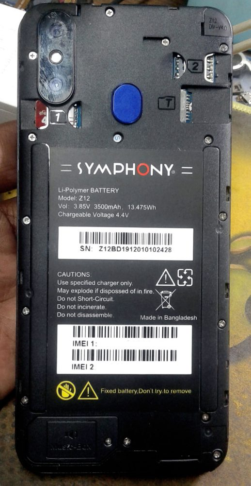 Symphony Z12 Flash File