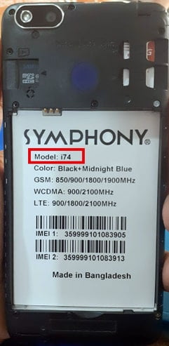 Symphony i74 flash file firmware,