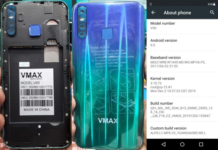 Vmax V50 Flash File Tested Firmware 5
