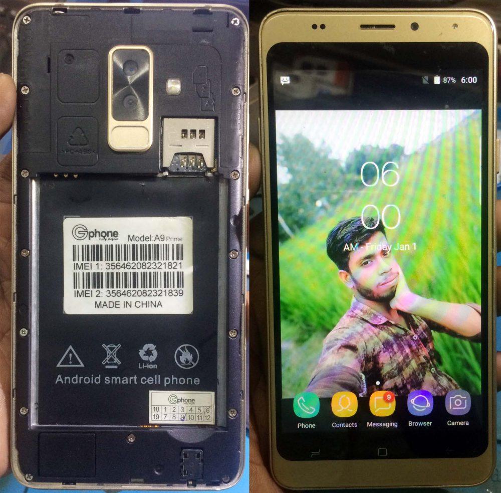 Gphone A9 Prime flash file