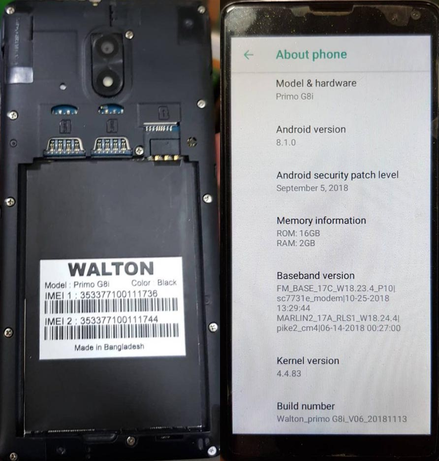Walton Primo G8i Flash File 6