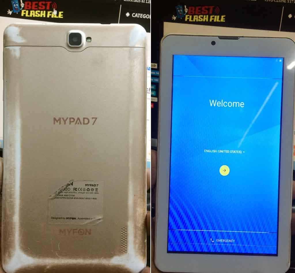 Myfon Mypad 7 Flash File TAB