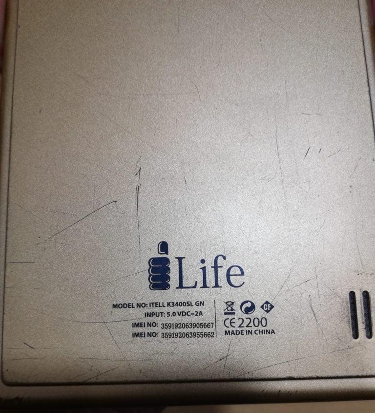 iLife Itell K3400SL GN Flash File Tab 4