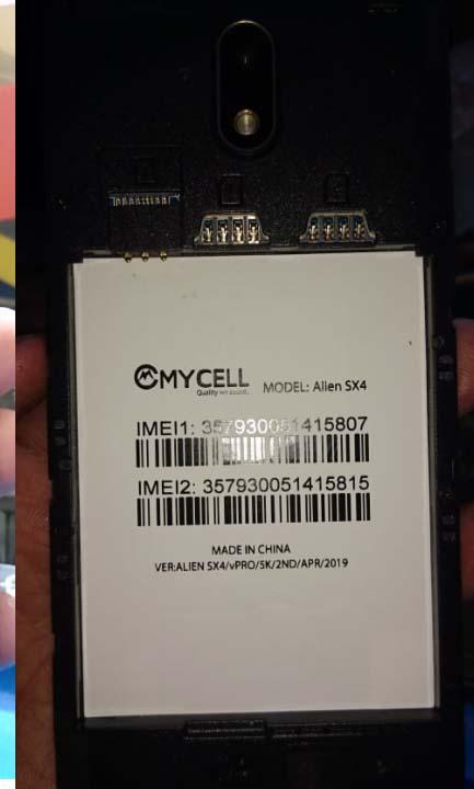 Mycell Alien SX4 Vpro Flash File 3